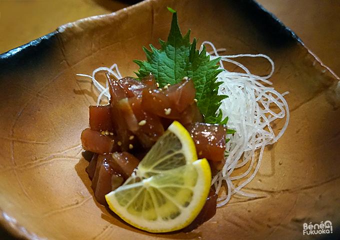 Sashimi mariné de thon