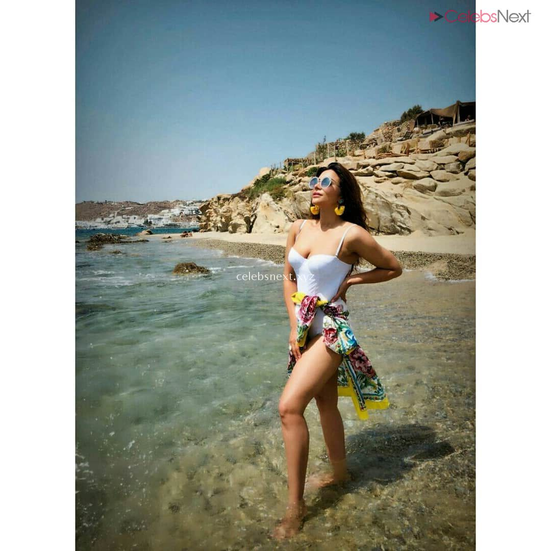 Shama Sikandar Sizzles in Bikini enjoying vacation in Mykonos July 2018 - Celebsnext Exclusive Pics