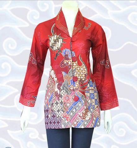 10 Contoh Model Baju Batik Wanita Modern Terbaru 2017
