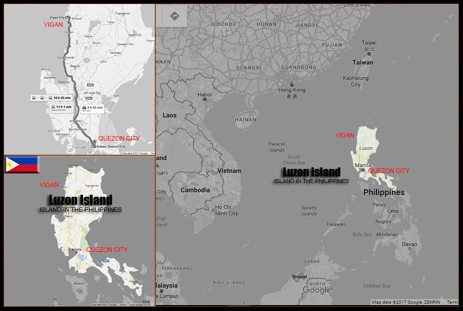 MAP LUZON ISLAND
