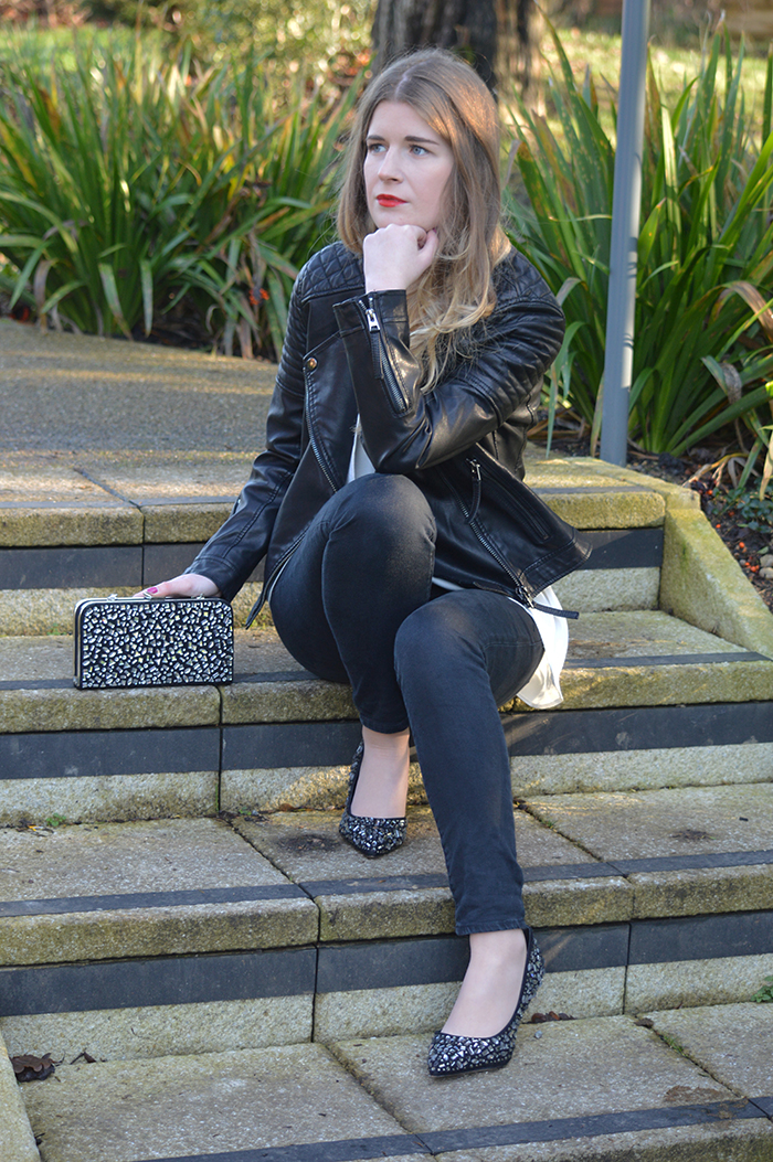 kurt geiger heels and bag fashion bloggers