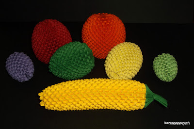 3d origami fruits
