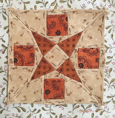 Dear Jane Quilt - Block I10 Iris' Medallion