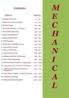 Mechanical Engineering Contents