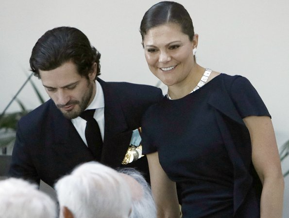 Crown Princess Victoria and Prince Carl Philip met with the President of Finland at the Finnish Embassy in Stockholm.