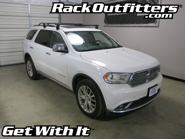 Dodge Durango Yakima Q Tower Round Bar Roof Rack '11