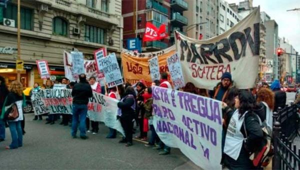 Docentes de Buenos Aires exigen paro nacional