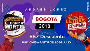 LA PELOTA DE LETRAS RENOVADA CON ANDRES LOPEZ | TEMPORADA BOGOTÁ 2018
