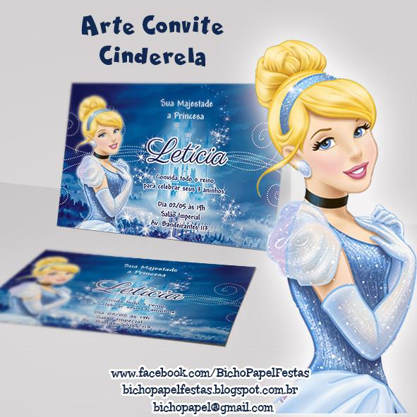 Arte Convite Cinderela