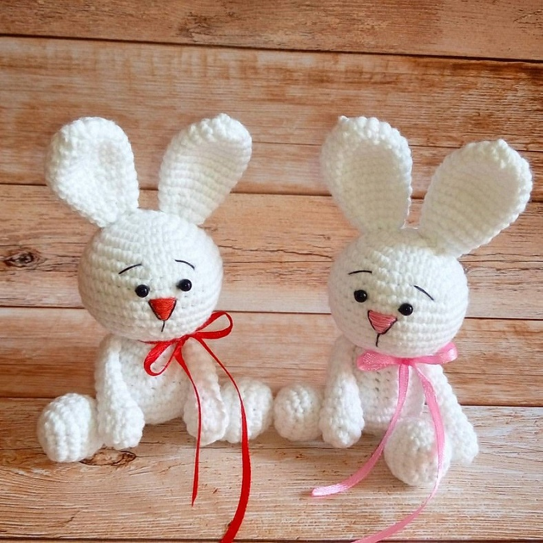 Кролики амигуруми игрушки крючком