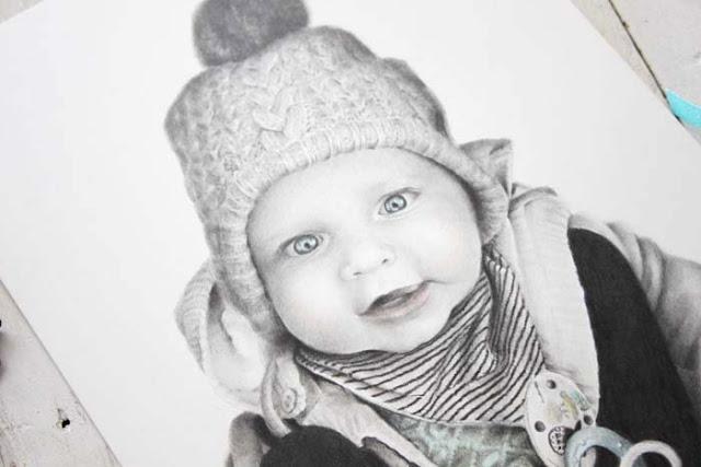 Retrato hiperrealista de un bebé