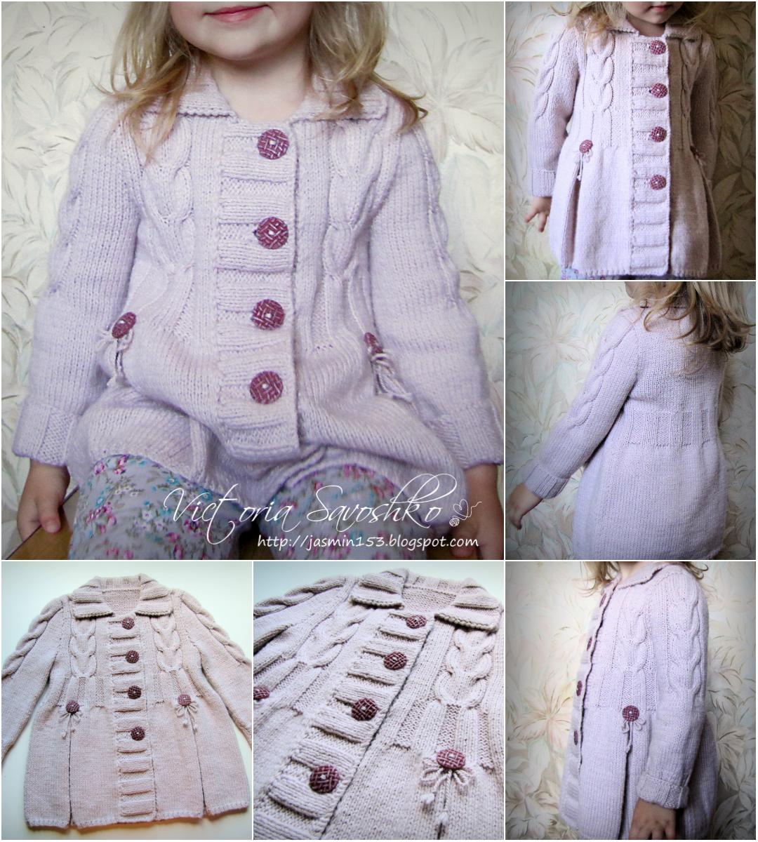 минутки радости вязаное пальто для девочки