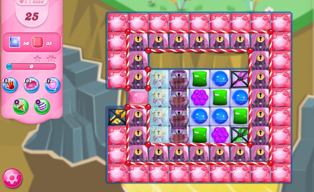 Candy Crush Saga level 6686