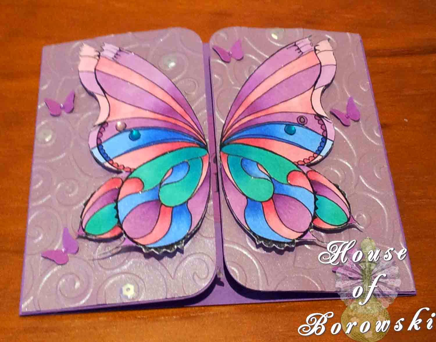 HOB, gatefold, Fitztown Fae18,Gina K Hello Sunshine,Copics MFT Die-namics fancy flourish, MPress curved rectangle,Cuttlebug divine swirl embossing folder