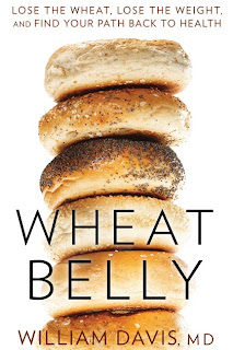 Image of the cover of Wheat Belly by William Davis (a pile of bagels)