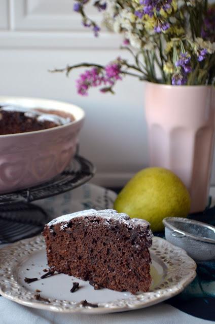 ciasto Ciasto piernikowe z gruszkami
