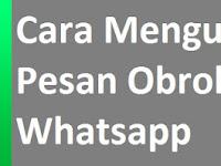 Mengunci Obrolan Whatsapp | Kunci obrolan whatsapp tanpa aplikasi tambahan