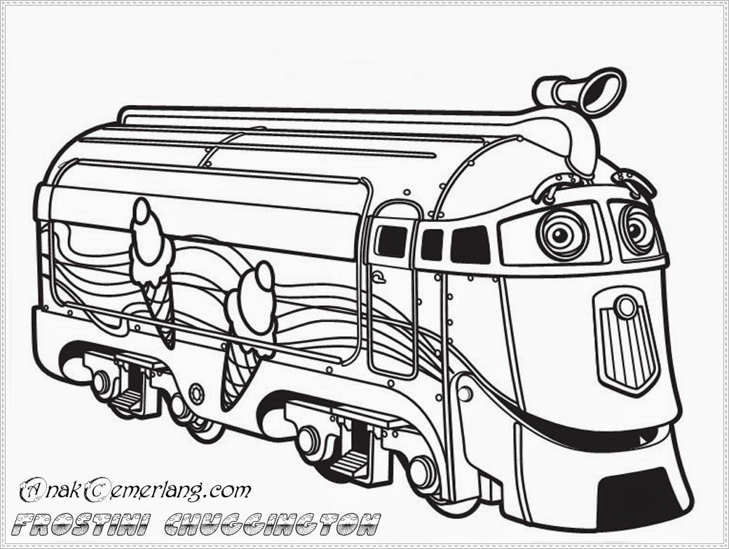 Gambar Mewarnai Kereta Api Kartun Wwwtollebildcom