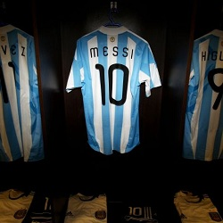 Kostum Messi di Timnas Argentina