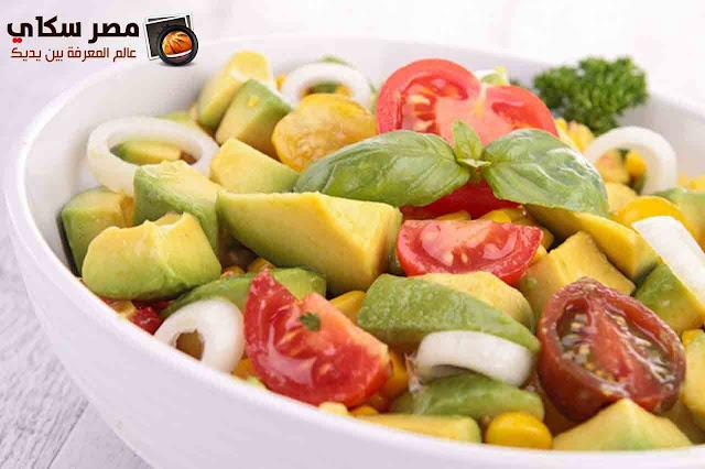 طريقة وخطوات عمل سلطة الأفكادو بالصور avocado salad