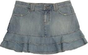 Foto de minifalda jean con pliegues