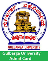 Gulbarga University Admit Card