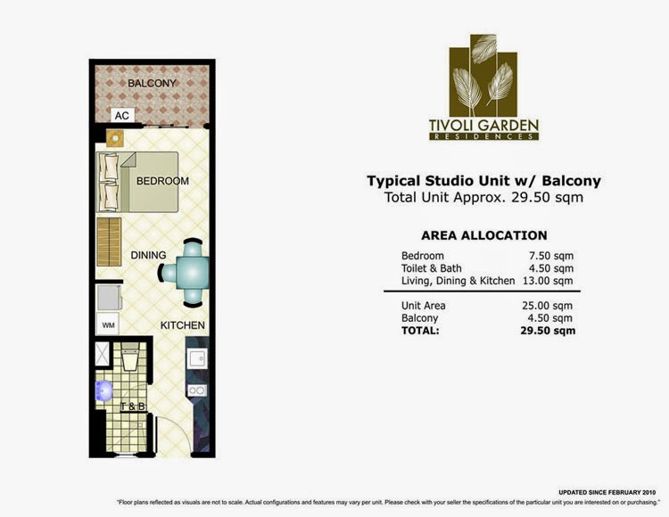 Tivoli Garden Residences Studio Unit 29.50 sqm