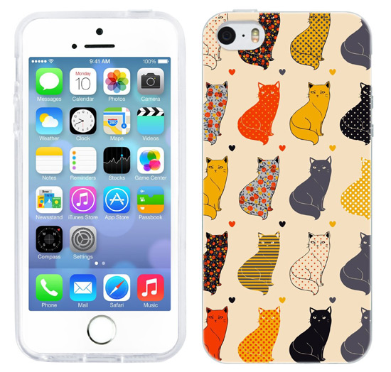 popular iphone case 5 5s for girls who love cats, gift for her, gift for girls