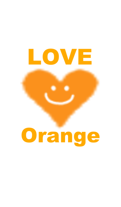 LOVE orange color