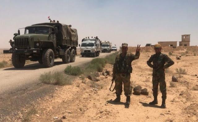 الجيش السوري يؤمن طريق دمشق عمان الدولي.؟