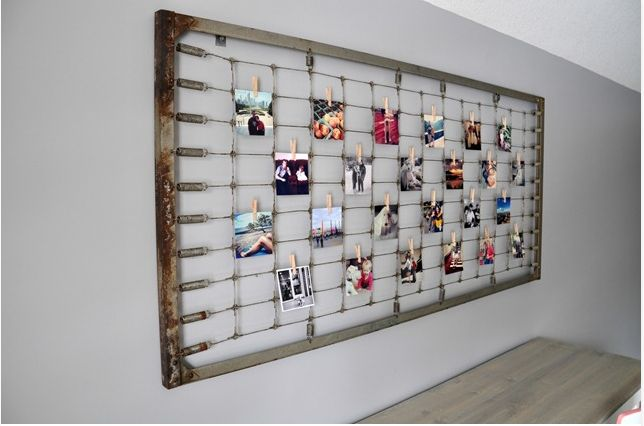 Crib Spring Photo Display