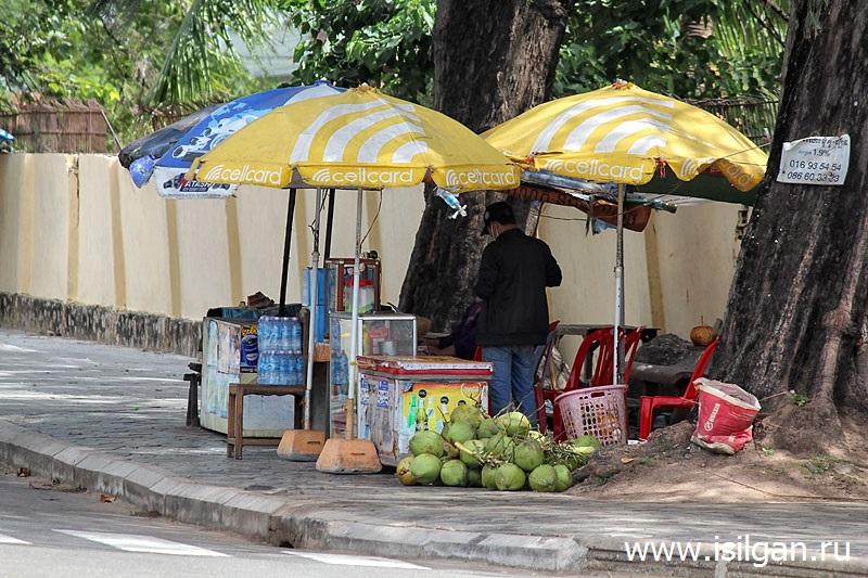 Город Кампот. Камбоджа