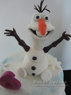 disney frozen olaf sugar paste