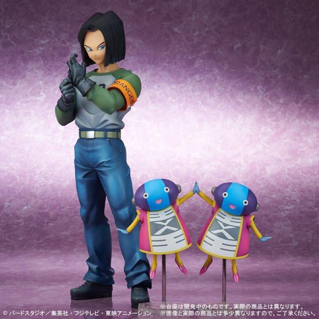 Figuras: Nueva Gigantic Series de A-17 y Zeno-sama de Dragon Ball Super - Plex