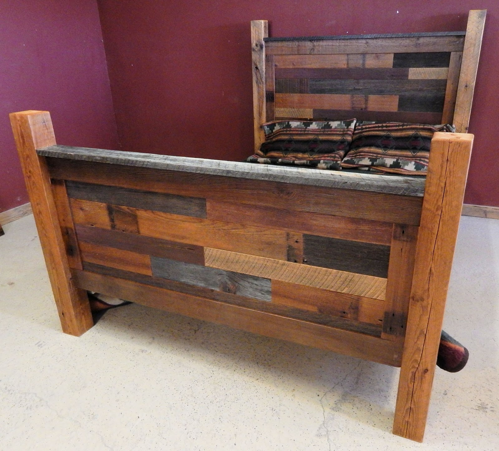 Rustic Wood Couch ~ Log furniture barnwood rustic
