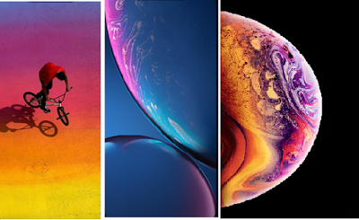 Download the stock wallpaper of iphone Xs, Xs Max and XR
