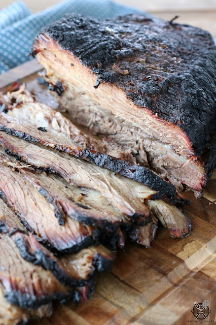 Wood Smoked Beef Brisket recipe from Kickin Up Smoke