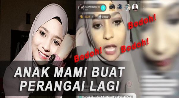 Lihat Video Farah Elmo Mencarut Lucah 'Tanpa Henti' Di Bigo Live
