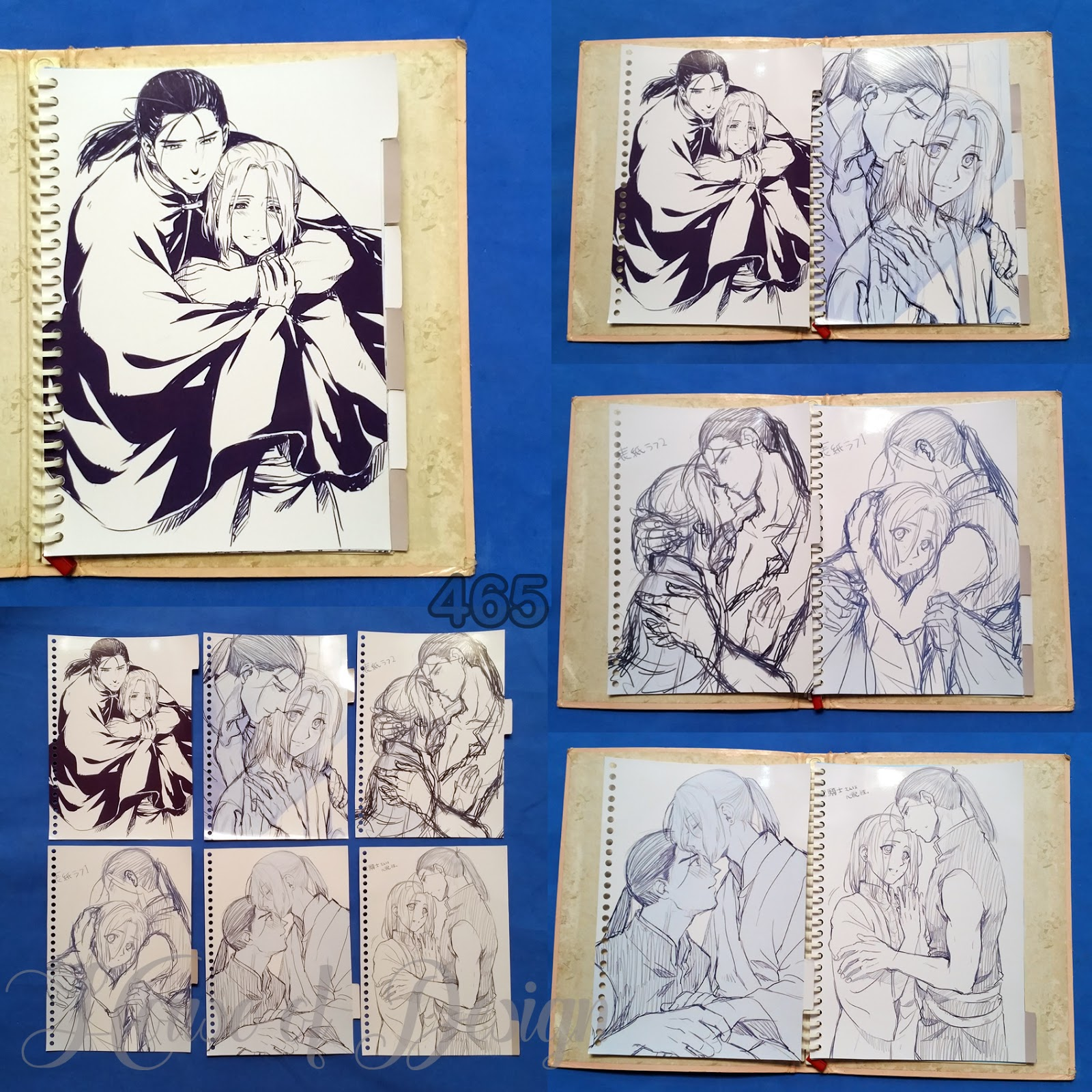 PEMBATAS BINDER SAMPING 26 RING UKURAN B5 ANIME LINE ART CUSTOM