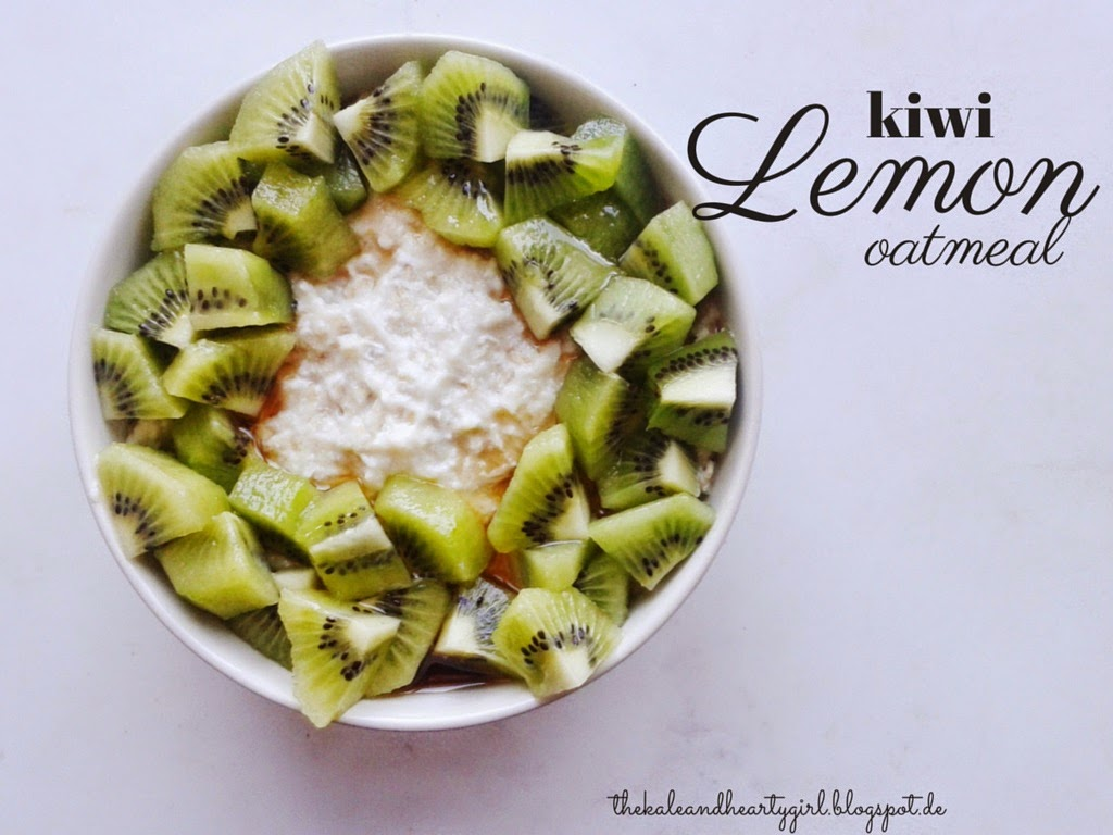 Kiwi and Lemon Oatmeal