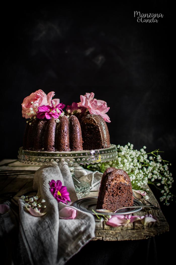 Bundt cake de chocolate relleno de Nocilla