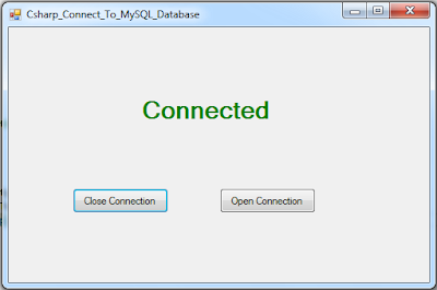 How To Connect C# To MySQL Database