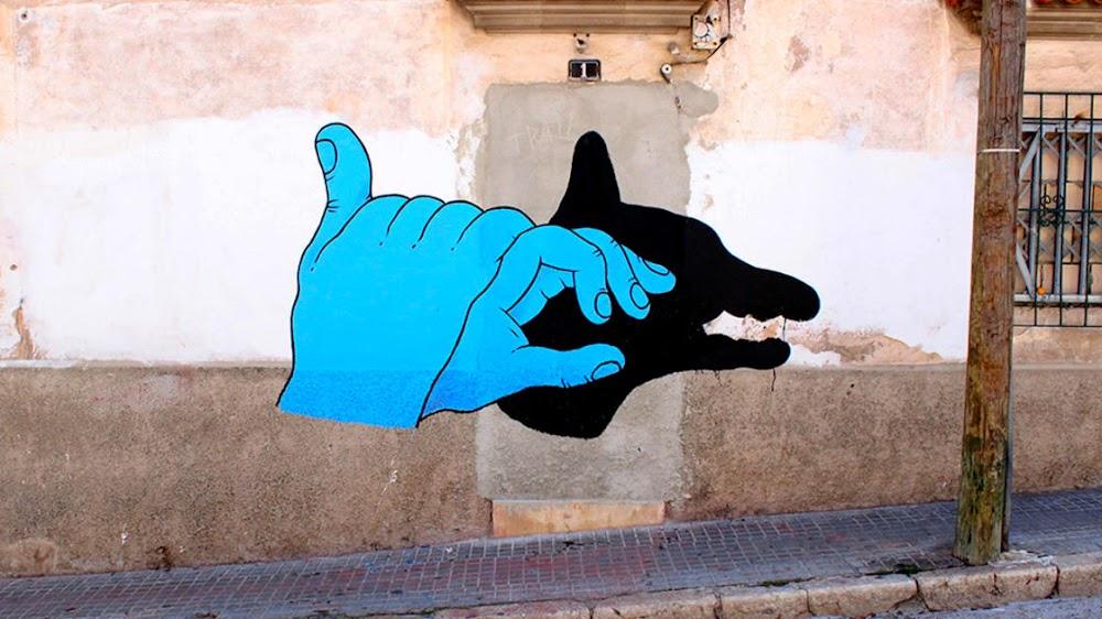 Wandmalerei Zuhause Hunger Pipi Langeweilie