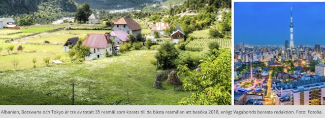 """Swedish magazine """"Vagabond"""": Albania, the best place to be visited in 2018"""