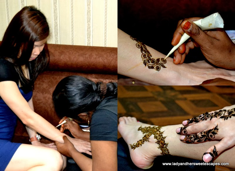 Al Marasim salon's henna designs