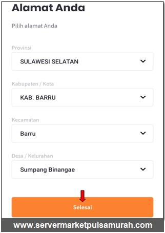 alamat di aplikasi market mobile topup