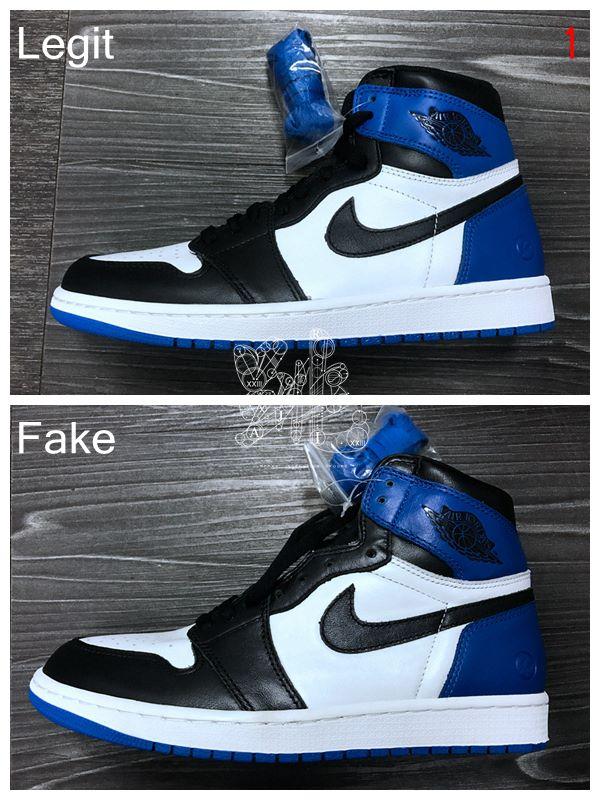 Air Fragment Jordan 1 Réel Vs Faux