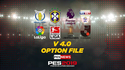 PES 2019 PS4 PESNews v4.0 Option File Season 2018/2019