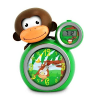 Monkey sleep training clock for kids