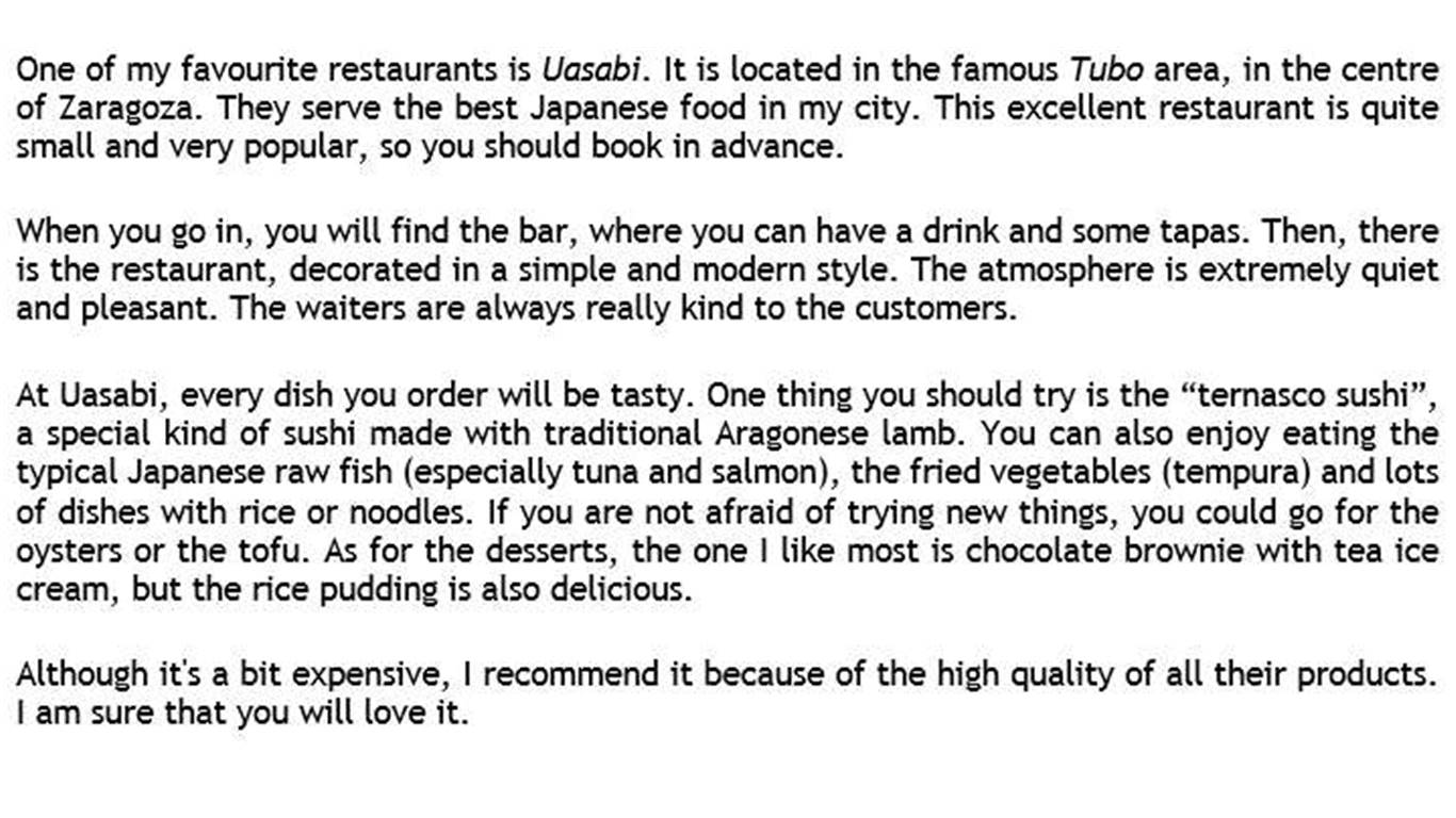 My Favourite Food Paragraph